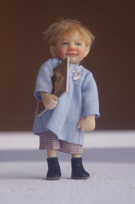 Catherine Muniere little boy miniature - this kids face reminds me of my friends boy who is now 43 or so!