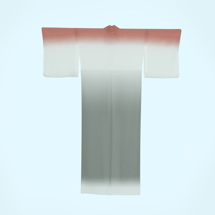 UTSURO BIRD プレタ浴衣  ウソ 鳥の体色を表した美しいグラデーションで表現した浴衣。名前の由来は、口笛を意味する古語で美しい鳴き声が特徴のスズメ目の小鳥。グレーと紅ピンク。