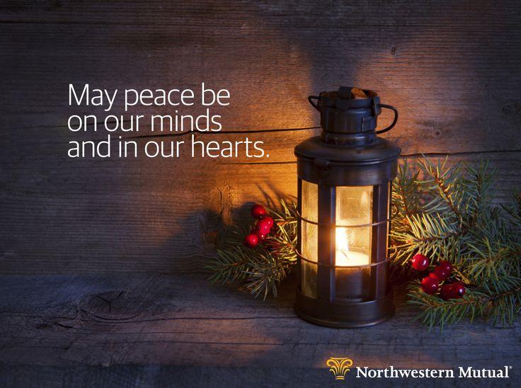 Wishing you peace this holiday season and throughout the entire year.