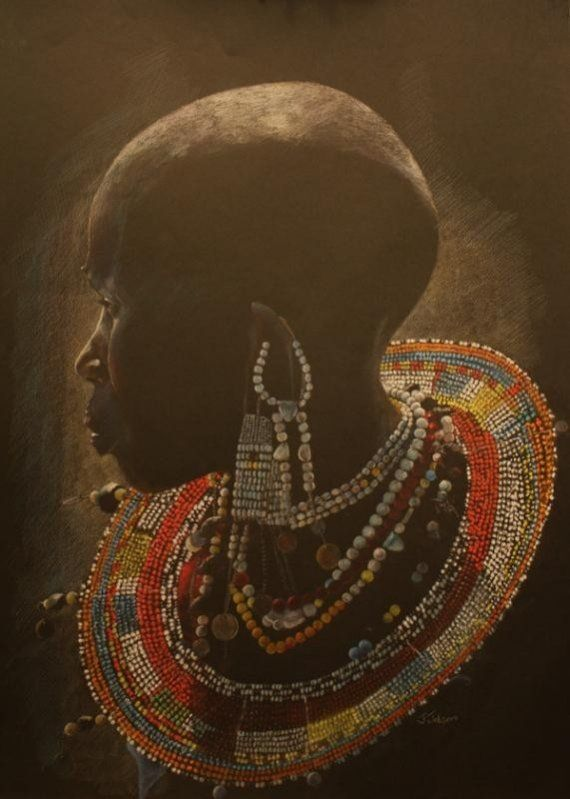 Beaded African Collar Necklace