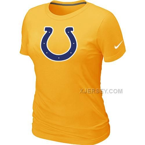 http://www.xjersey.com/indianapolis-colts-yellow-womens-logo-tshirt.html INDIANAPOLIS COLTS YELLOW WOMEN'S LOGO T-SHIRT Only $26.00 , Free Shipping!