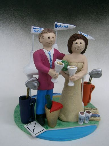 Beachside-Golfers-Wedding-Cake-Top http://www.magicmud.com   1 800 231 9814  magicmud@magicmud.com   $235  https://twitter.com/caketoppers         https://www.facebook.com/PersonalizedWeddingCakeToppers   #golfer#golfing#golfersWedding#golf#wedding #cake #toppers #custom #personalized #Groom #bride #anniversary #birthday#weddingcaketoppers#cake toppers#figurine#gift#wedding cake toppers