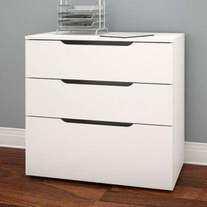 nexera arobas 3 drawer file cabinet white file cabinets at hayneedle