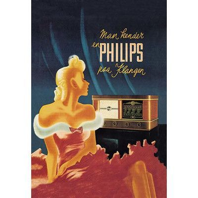 Buyenlarge Man Kender en Philips paa Klangen Vintage Advertisement Size: