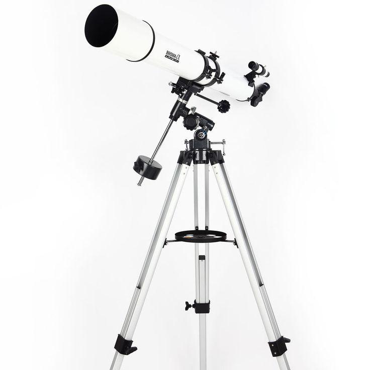 New BOSMA Skyhawk 80/900 Equatorial Refractive Astronomical Telescope W/ Tripod