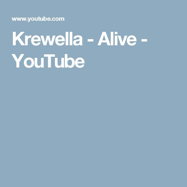 Krewella - Alive - YouTube