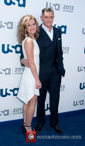 Maggie Lawson and Timothy Omundson - 2013 USA Network Upfronts held at Pier 36 - Arrivals - New York City,...