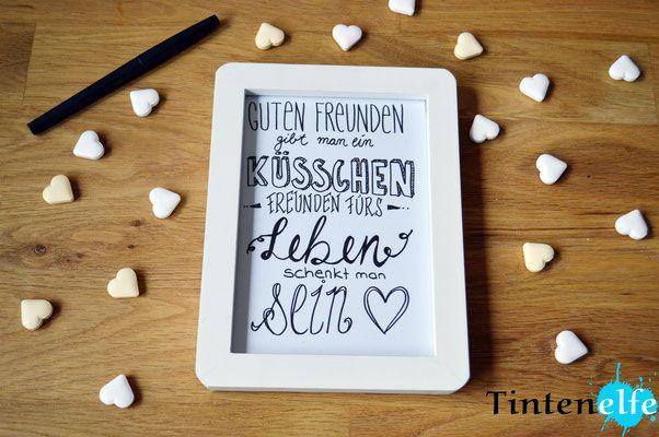 Blog Tintenelfe.de - Geschenkidee für die beste Freundin #bff #friendsforlife #quotes