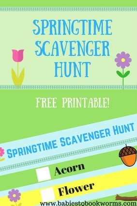 """Babies to Bookworms provides a variety of fun Spring activities for families to pair with Julie Fogliano's """"And Then It's Spring"""".#SpringActivities #SpringScavengerHunt #SpringBooks"""