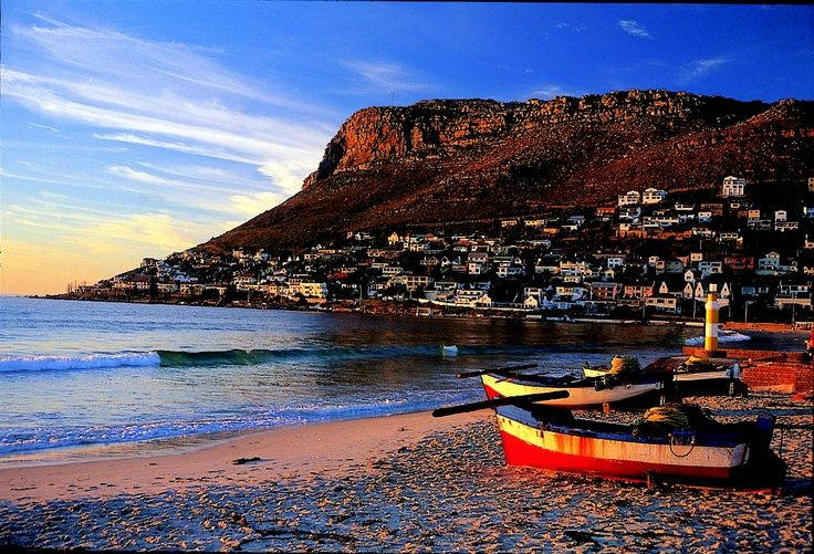 Fish Hoek Beach, Cape Point Route in South Africa