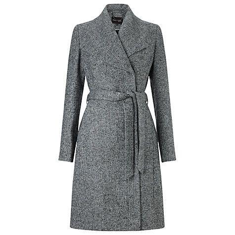Buy Phase Eight Devyn Belted Coat, Salt/Pepper Online at johnlewis.com