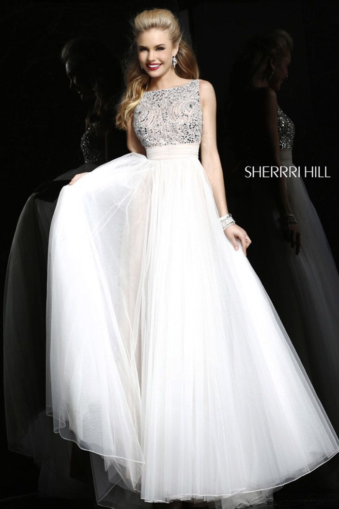 2014 Sherri Hill 11022 A-Line White Elegant Prom Dress - $172.00 : 2014 Prom Dresses Online Sale,Cheap Sherri Hill Dresses