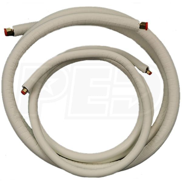 Jmf Mls385812 35 3 8 Inch X 5 8 Inch Mini Split Line Set 1 2 Inch Ez Pull Insulation 35 Length Factory Flared Heating Cooling Wall Mount Air Conditioning System