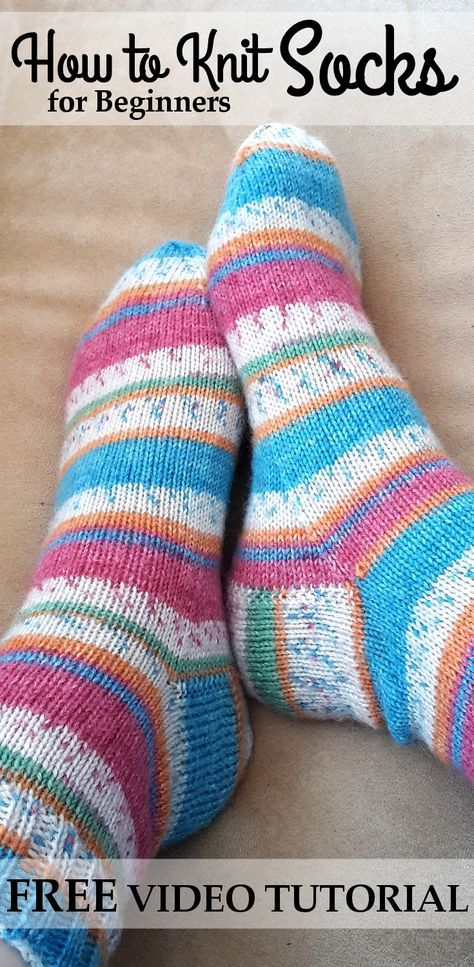 Craft This Simple Knitted Striped Sock For Your Entire Family