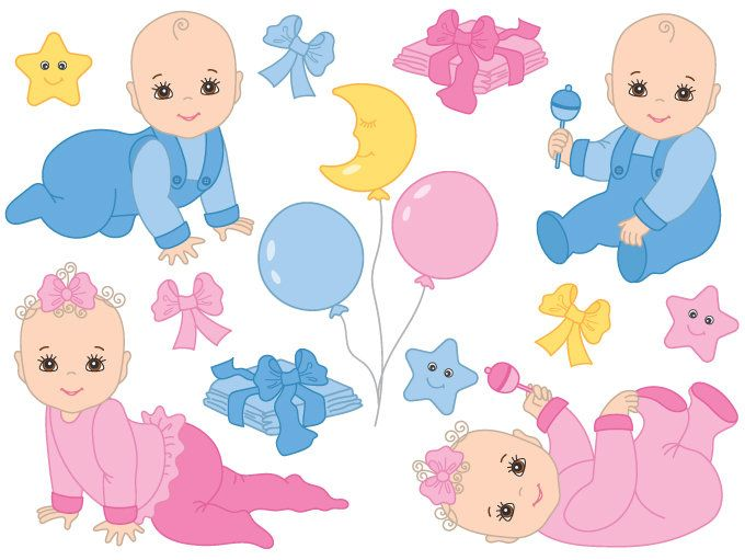70 OFF SALE Baby Clipart Digital Vector Baby Girl, Baby