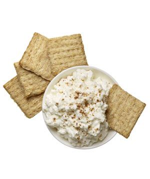 Snack idea: 5 Triscuit crackers dipped in 1/2 cup cottage cheese sprinkled with garam masala