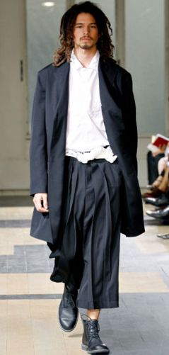 """Yohji Yamamoto SS12 Menswear. I know it's mens but I love this! I think I could pull it off because I am a 6'2"""" tall woman."""