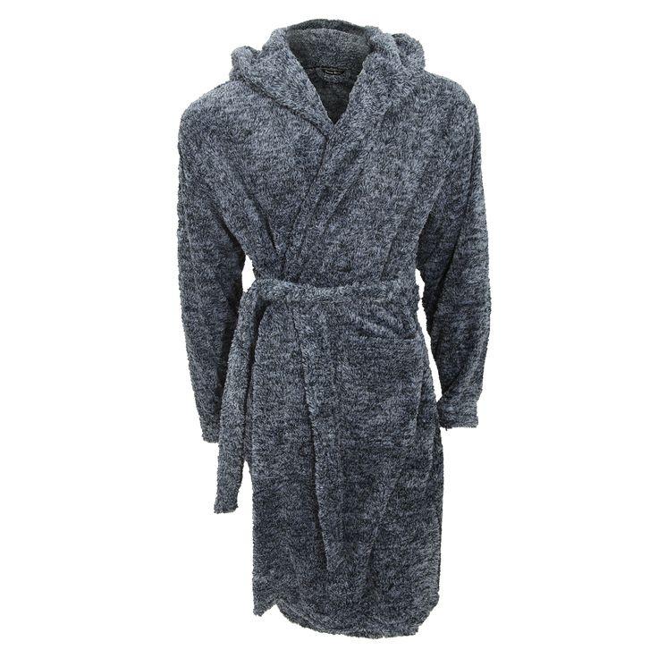 Pierre Roche Mens Supersoft Fleece Dressing Gown (£18.95) || The #supersoft #fleece fabric of this Pierre Roche dressing gown is perfect for keeping warm indoors this #winter. #dressinggown #menspyjamas #nightwear #followback #mensnightwear #pyjamas #pajamas #menspajamas