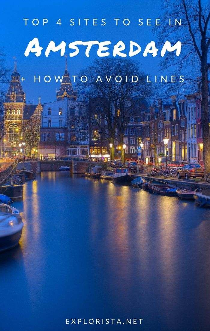 Amsterdam is one of the most popular cities to visit in Europe! This means its biggest attractions can have very long lines. Here's how to avoid them. | Amsterdam Netherlands, things to do in amsterdam, amsterdam travel, amsterdam tips