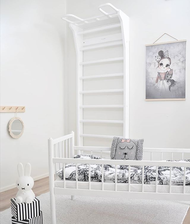This Bedroom Sweet White Dreams And Endless White Adventures With The Cute White Bunny Conquer In 2020 Minimalist Kids Room Modern Kids Room Girl Room Inspiration