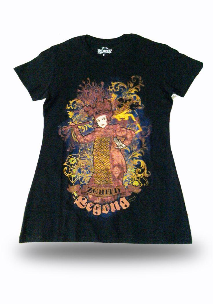 Legong Bali - Discharge printing t-shirt
