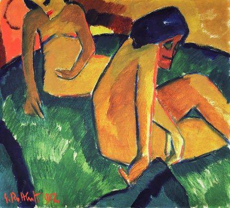 Two Women (1912) by Karl Schmidt-Rottluff