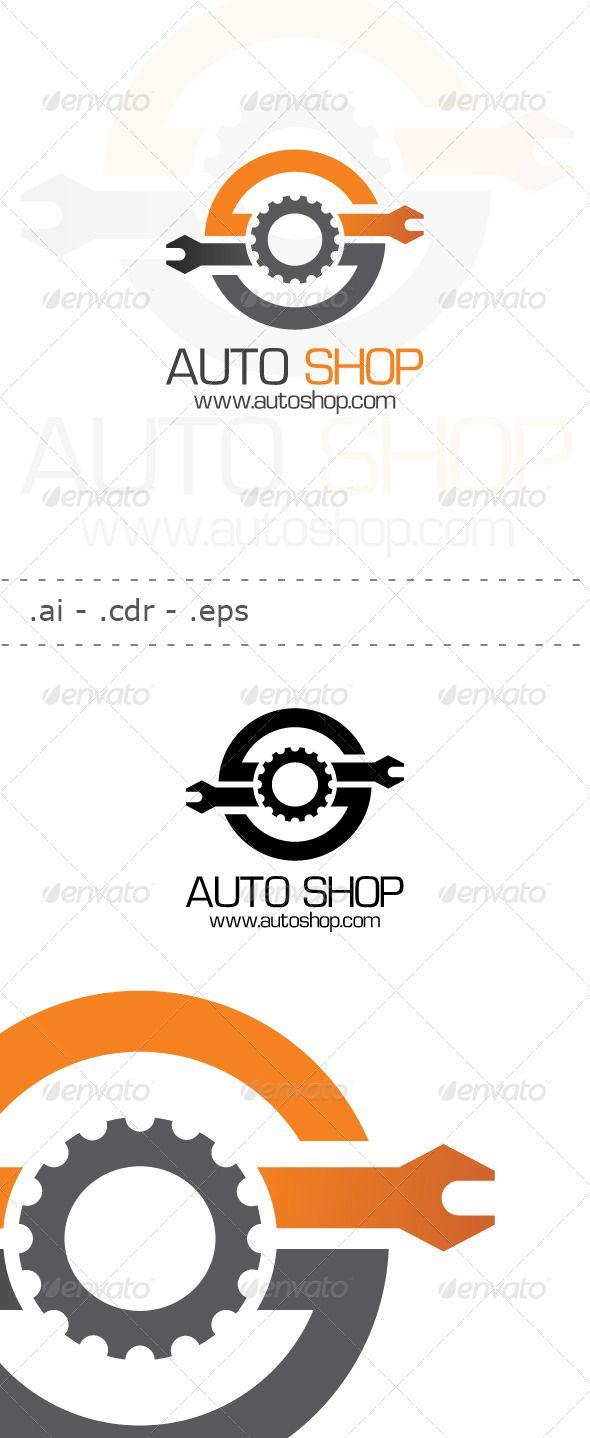 Auto Shop Logo — Vector EPS #workshop #gear • Available here → https://graphicriver.net/item/auto-shop-logo/6445362?ref=pxcr