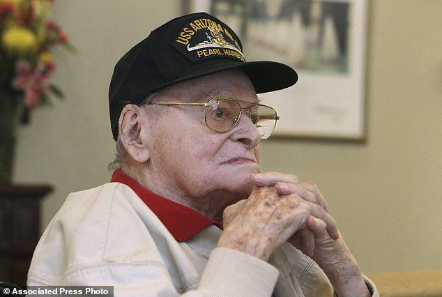 Raymond Haerry (pictured in 2016) was one of the last surviving veterans of the USS Arizona during the attack on Pearl Harbor. He was reunited with his fallen shipmates 75 years later when he was interred there on Saturday
