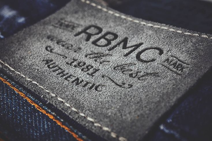 Hot printed suede leather labels made in Italy by Panama Trimmings #denim #details #vintage #labeling