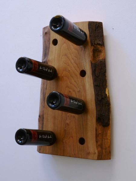 Solid Wood Wine Bottle Rack