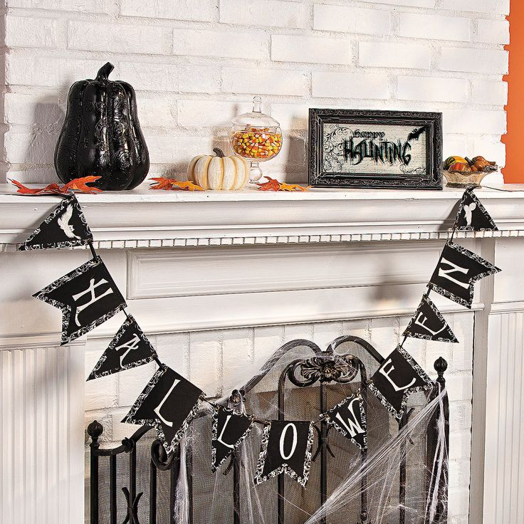 its black and white design is perfect for celebrating the fall season or decorating for a halloween party - Black And White Halloween Party
