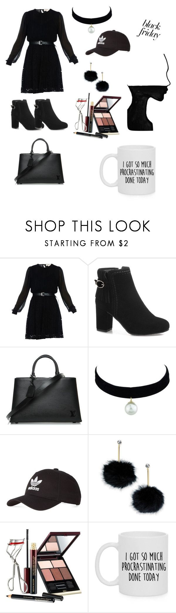 """""""Let's go shopping!  Beacuse it's black friday! !!"""" by hannaisthebest ❤ liked on Polyvore featuring MICHAEL Michael Kors, Louis Vuitton, adidas, Kate Spade and Kevyn Aucoin"""