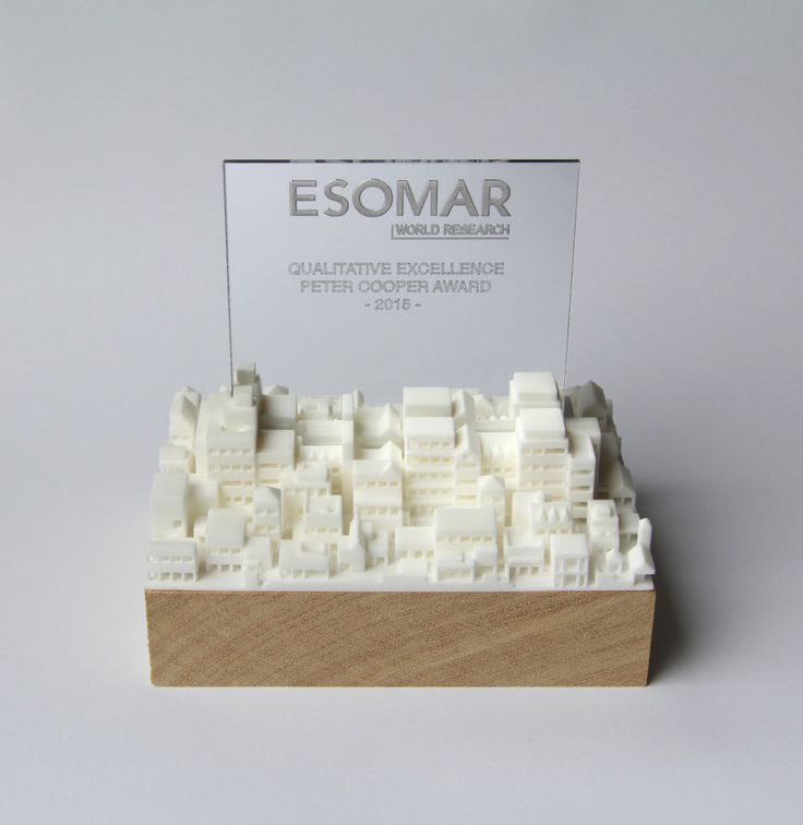 3D printed award designed by Sylvain Tegroeg