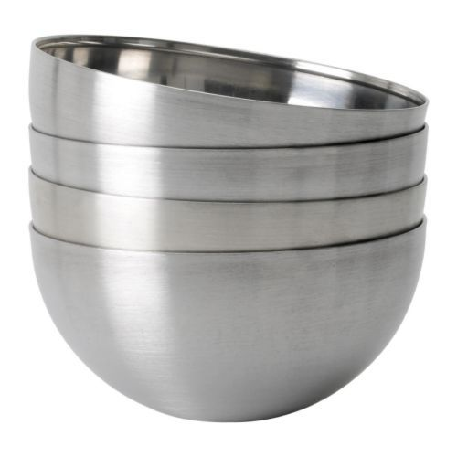 BLANDA BLANK Bowl IKEA Space-saving when stored; small sizes can be stacked inside larger sizes in the same series.