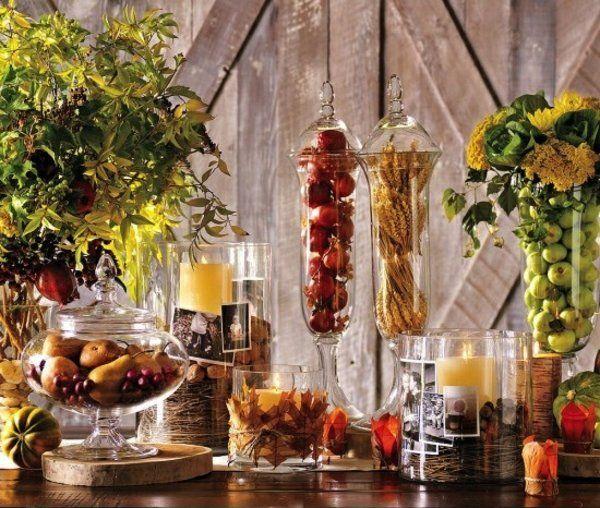 Herbst Tischdeko Erntedankfest Basteln