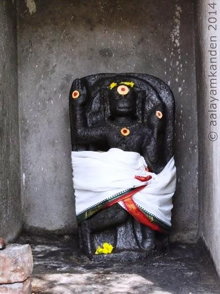 Lord Anjaneya (not commonly seen in a Shiva Temple)