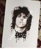 Keith Richards pen and ink illustration