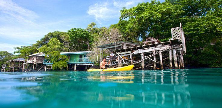 Go on kayaking at Lusia's Lagoon Chalets #samoa