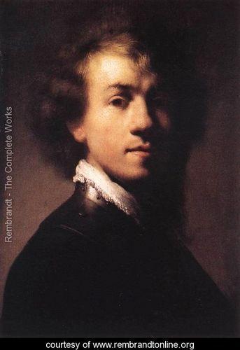 Self-Portrait with Lace Collar c. 1629 - Rembrandt Van Rijn - www.rembrandtonline.org