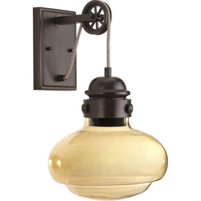 Pulley Cloche Sconce Bronze Wall Sconce Progress Lighting Led