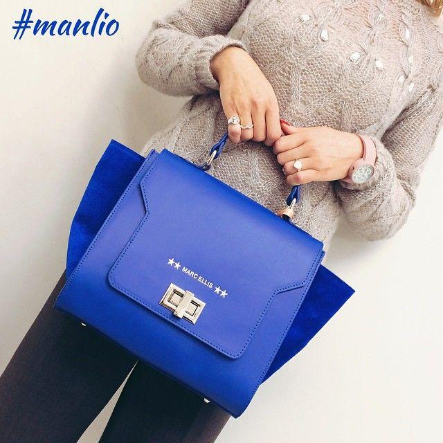 Almost blue... Borsa pelle Marc Ellis - Per spedizioni 329.0010906 #marcellis #spring2015 #fashion #style #bags #handbags #leather