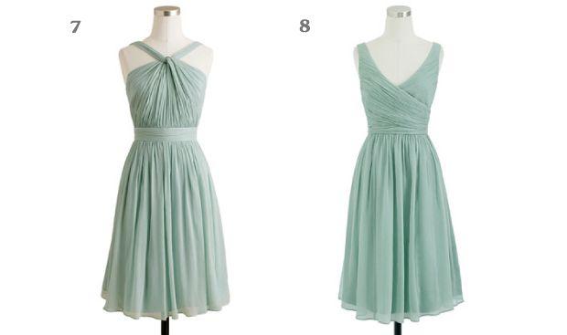 Grayed Jade Bridesmaids Dress