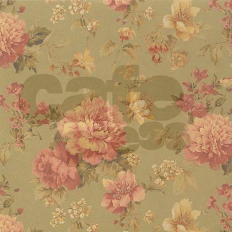 Vintage Floral Pink Roses Shower Curtain