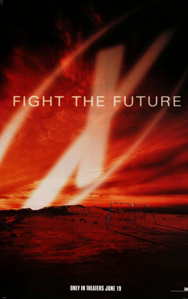 X Files Fight The Future 1998 In 2020 X Files Movie Posters Science Fiction Film