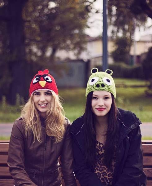Angry Birds dla każdego! Super modna czapka! w Anelis Atelier na DaWanda.com