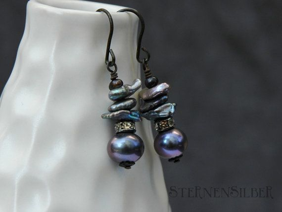 Earring pearl dream by sternensilber on Etsy, $42.00