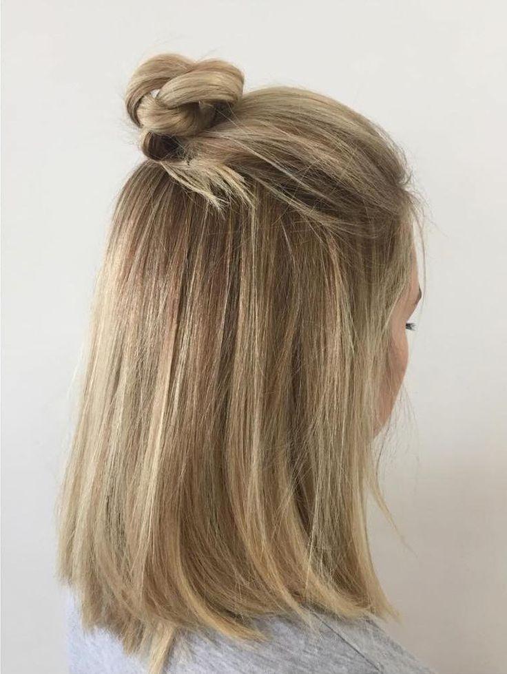 Nouvelles tendances en coiffure pour hommes et femmes – Coiffure Half Bun #easyhairstyle #hair …   – Wedding Short Hairstyles 101
