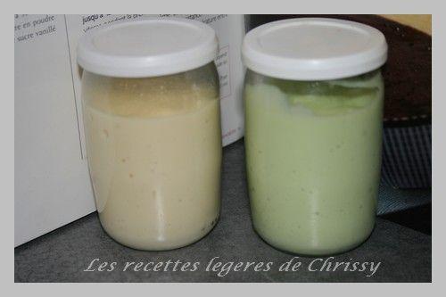 CREME DESSERT FACON DANETTE vanille et pistache - LES RECETTES LEGERES DE CHRISSY