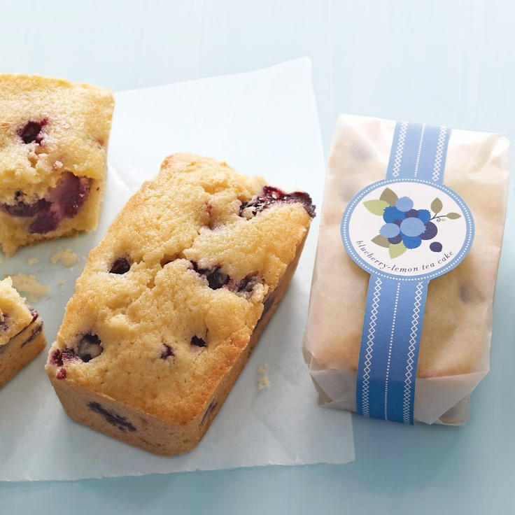 Blueberrylemon tea cakes recipe pinterest martha