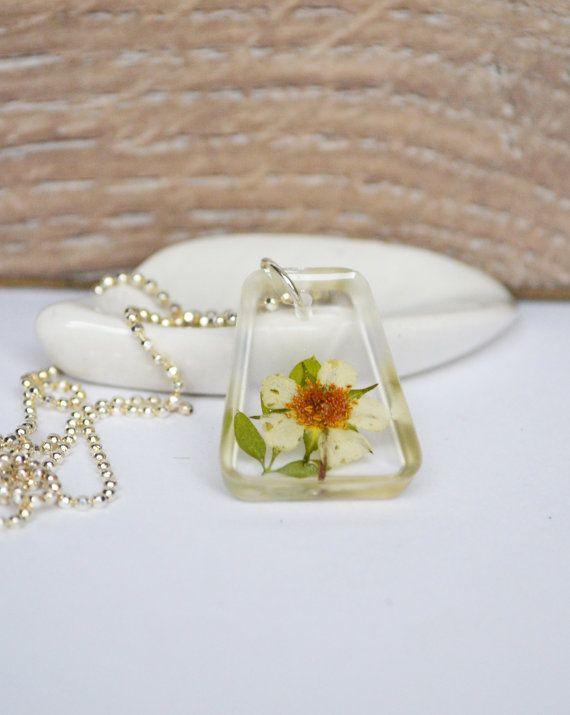 Strawberry Flower Necklace Spring JewelryPressed by LOVEnLAVISH, $15.00